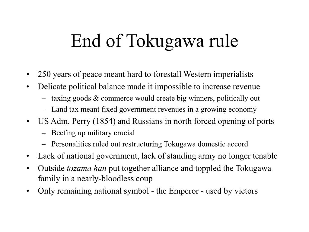 End of Tokugawa rule