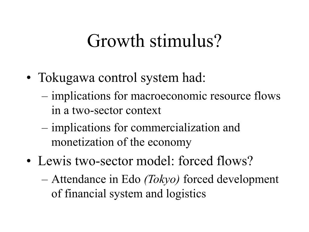 Growth stimulus?