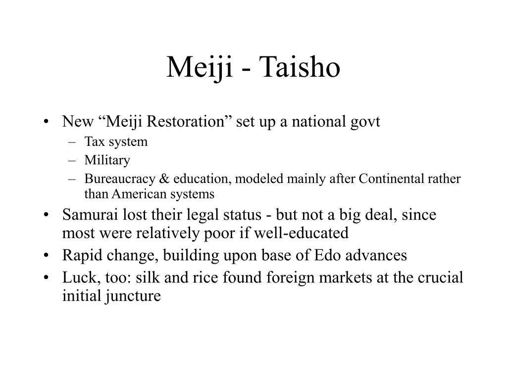 Meiji - Taisho