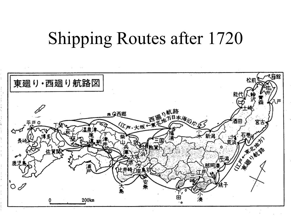 Shipping Routes after 1720