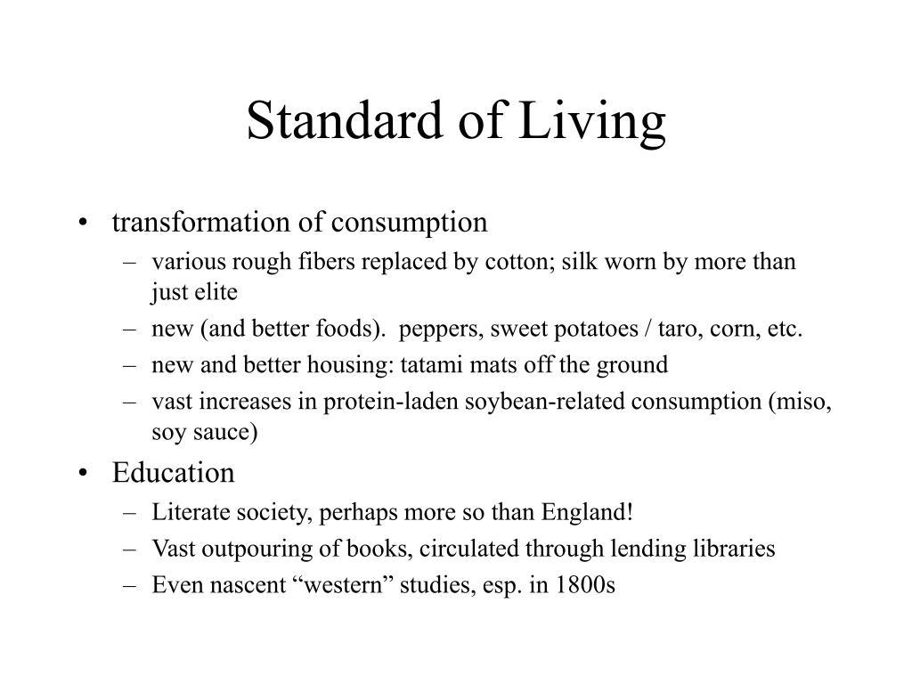 Standard of Living