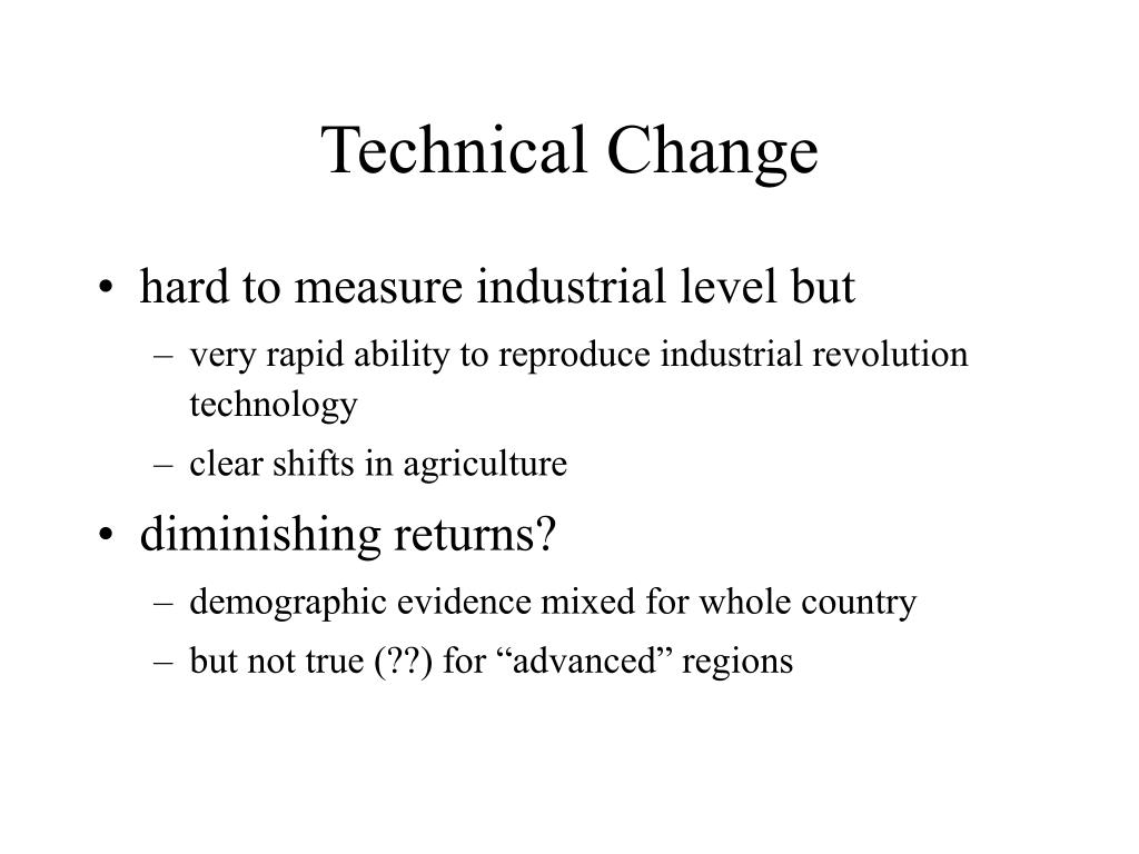 Technical Change