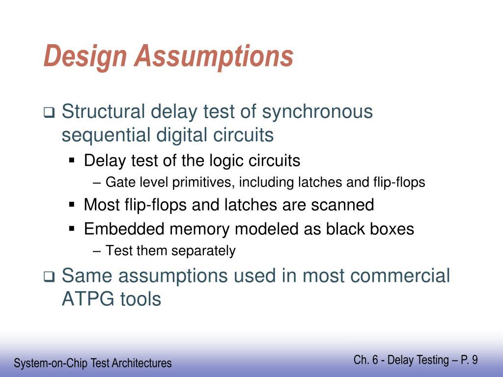 Design Assumptions