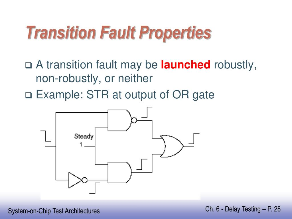 Transition Fault Properties