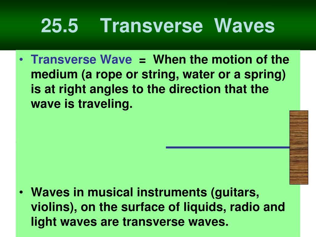 25.5    Transverse  Waves