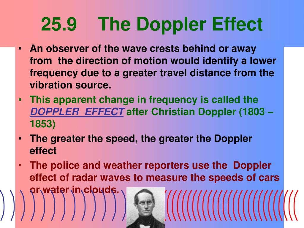 25.9    The Doppler Effect