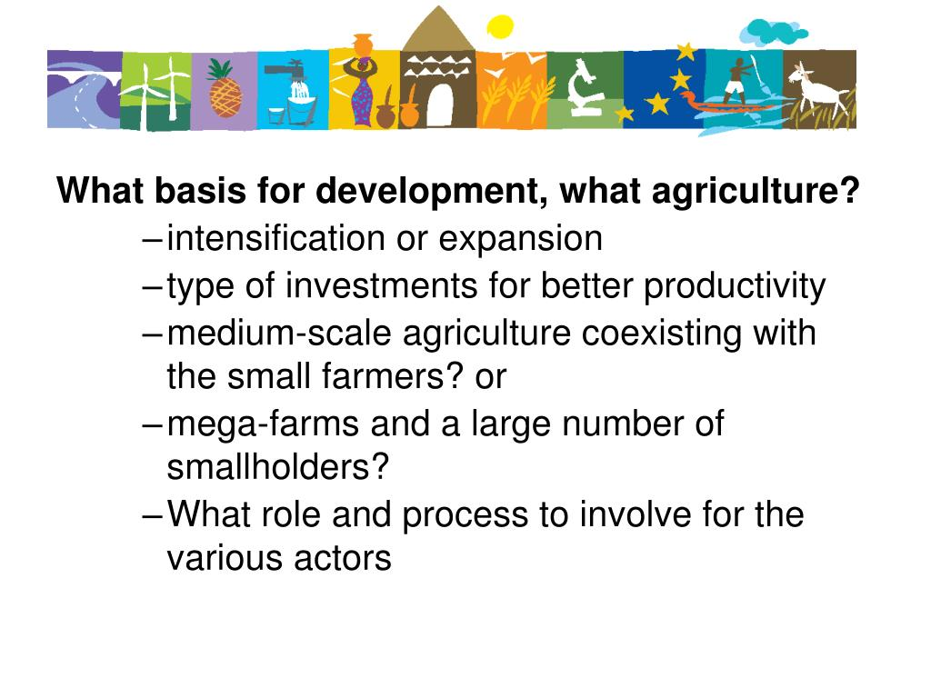 What basis for development, what agriculture?