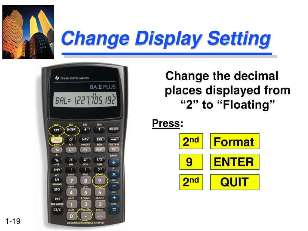 Change Display Setting