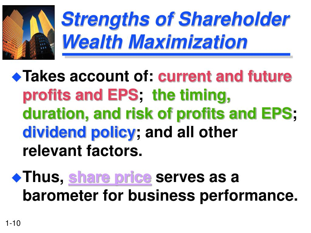 Strengths of Shareholder Wealth Maximization