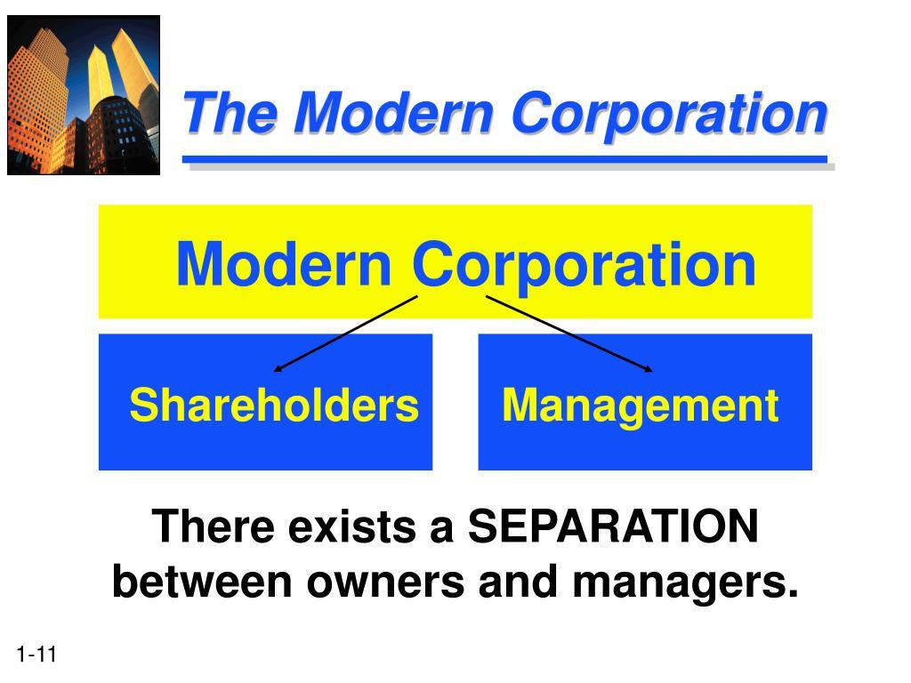 The Modern Corporation