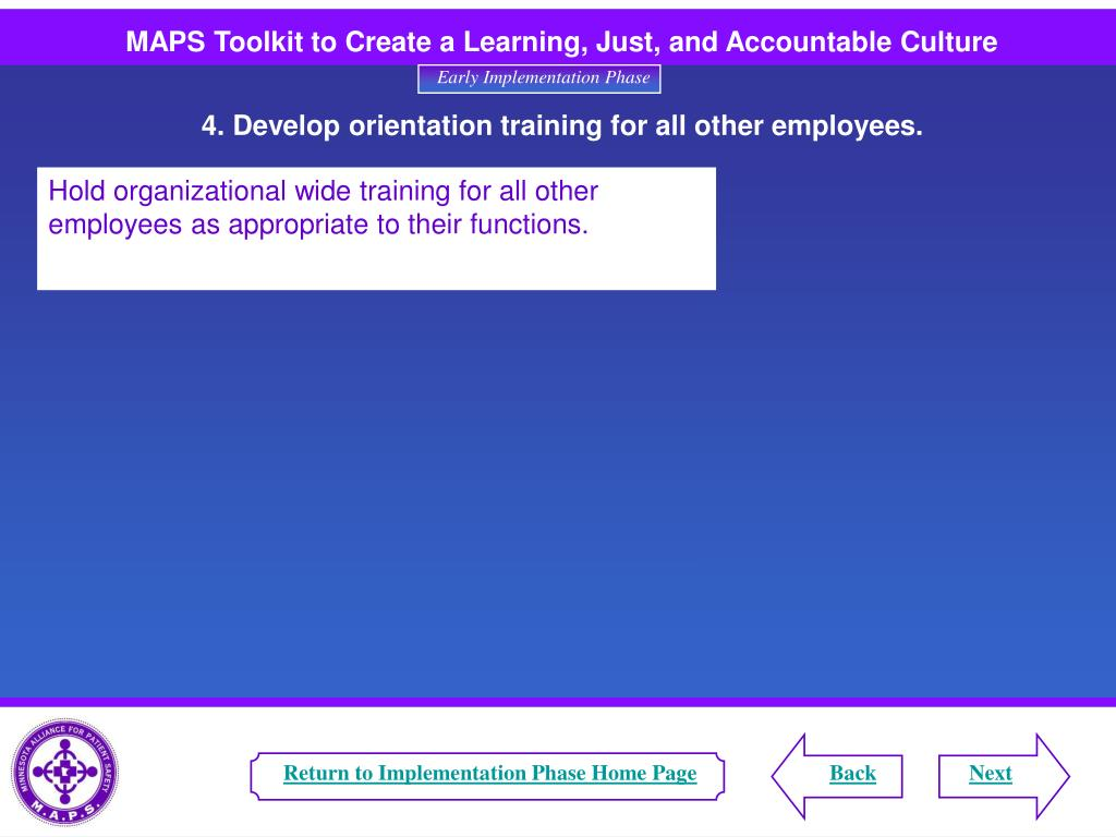 Return to Implementation Phase Home Page