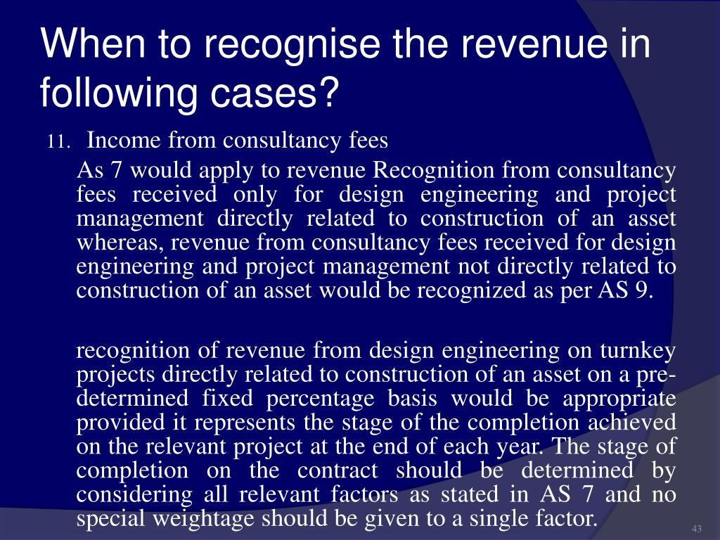 revenue recognition case