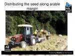 distributing the seed along arable margin