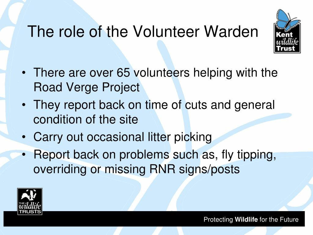 The role of the Volunteer Warden