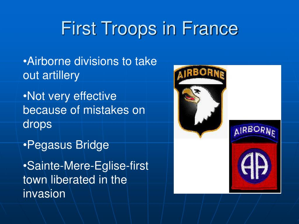 First Troops in France