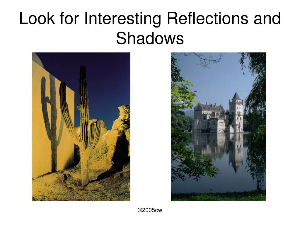 Look for Interesting Reflections and Shadows