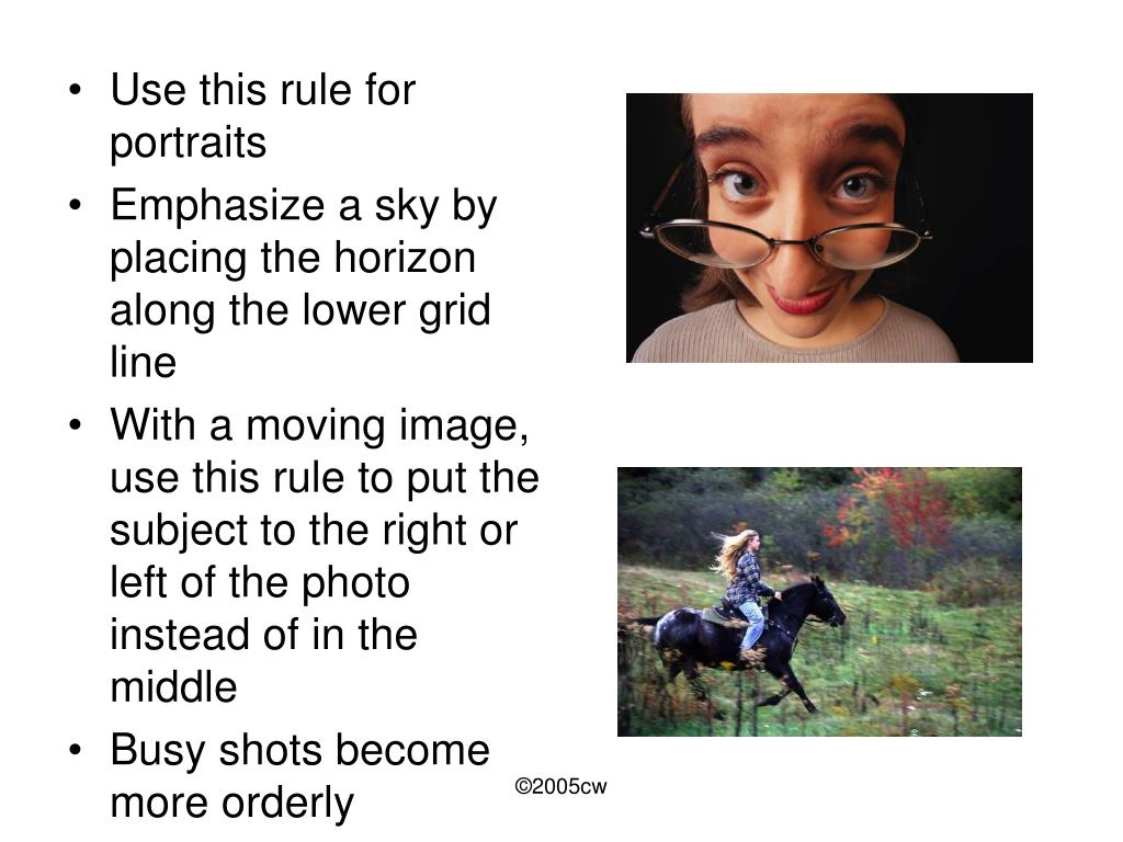Use this rule for portraits