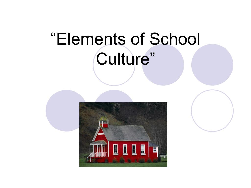 """Elements of School Culture"""
