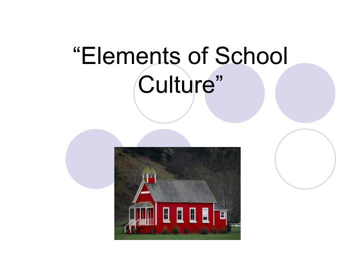 Elements of school culture l.jpg
