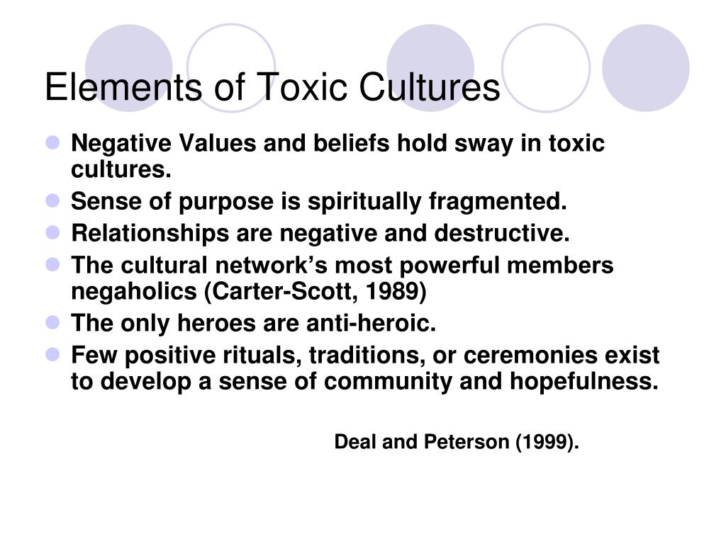 Elements of Toxic Cultures