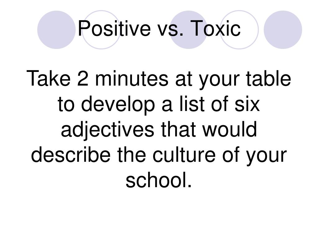 Positive vs. Toxic