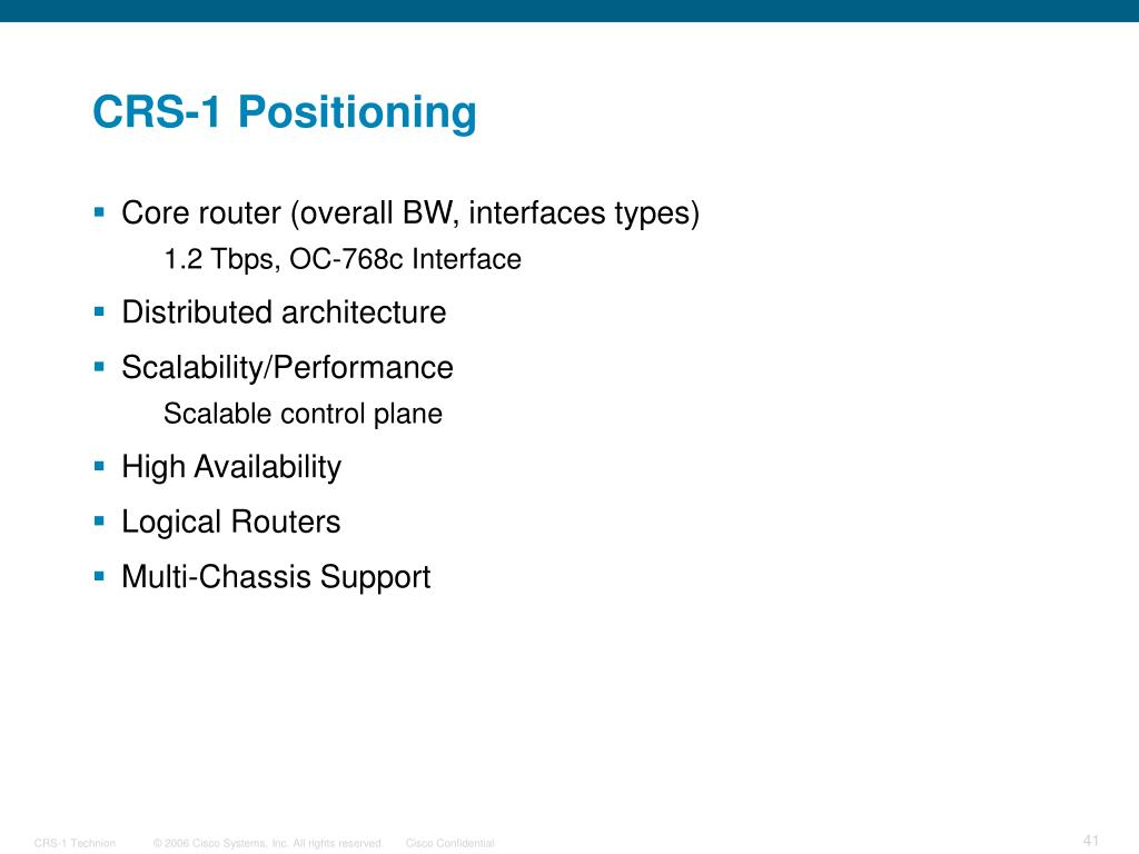 CRS-1 Positioning
