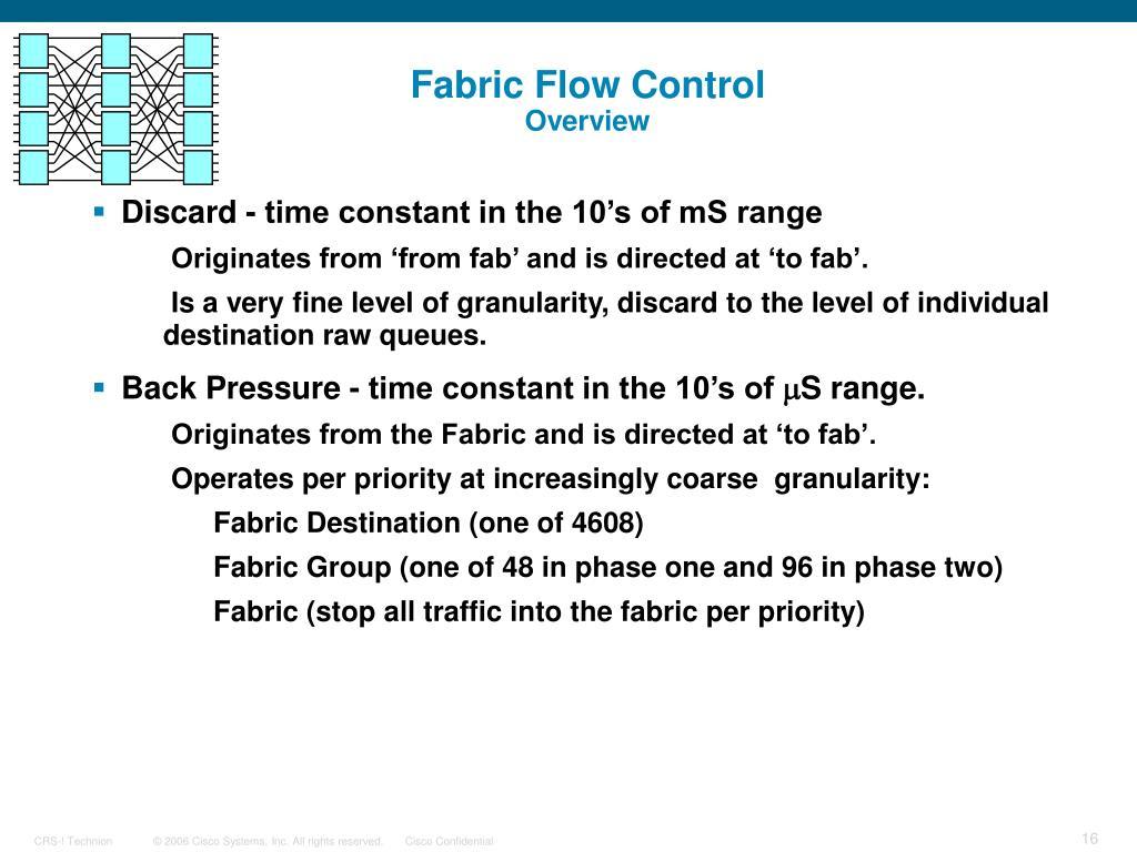 Fabric Flow Control