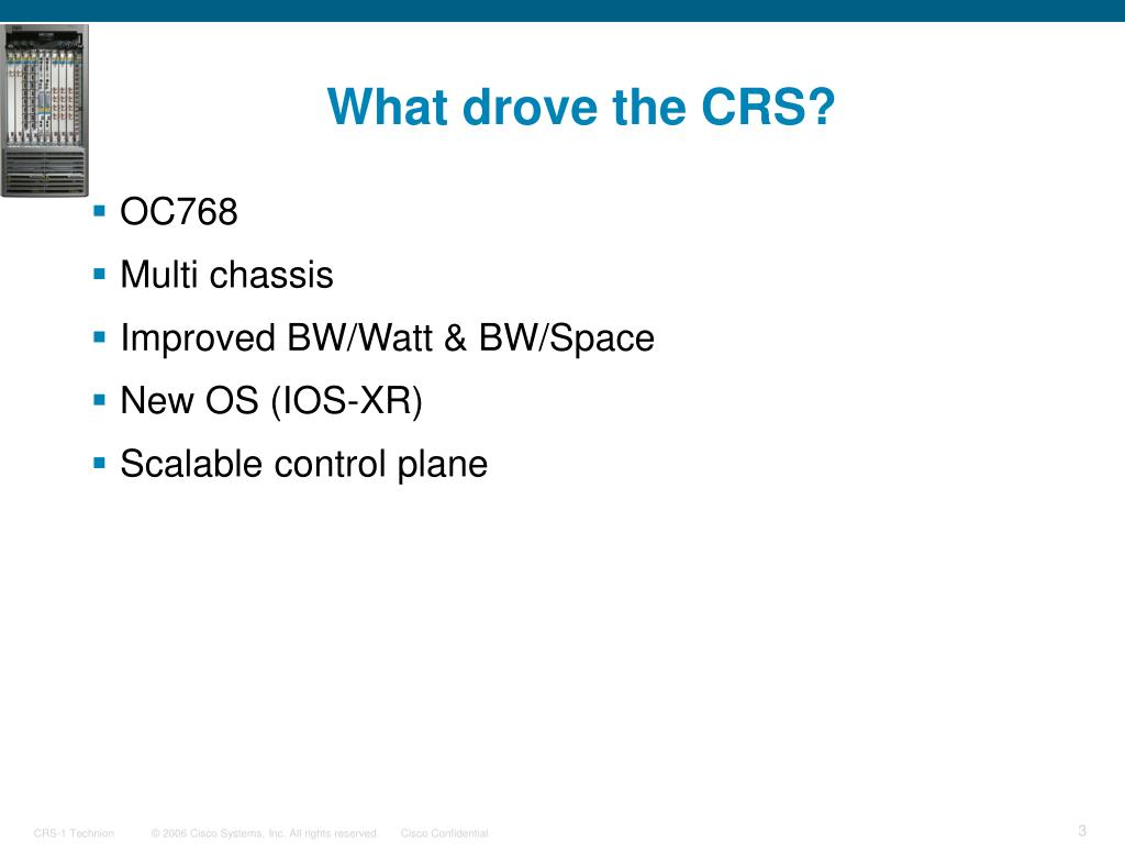 What drove the CRS?