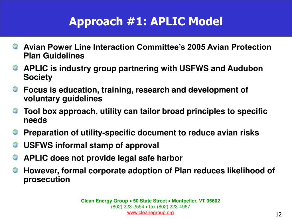 Approach #1: APLIC Model