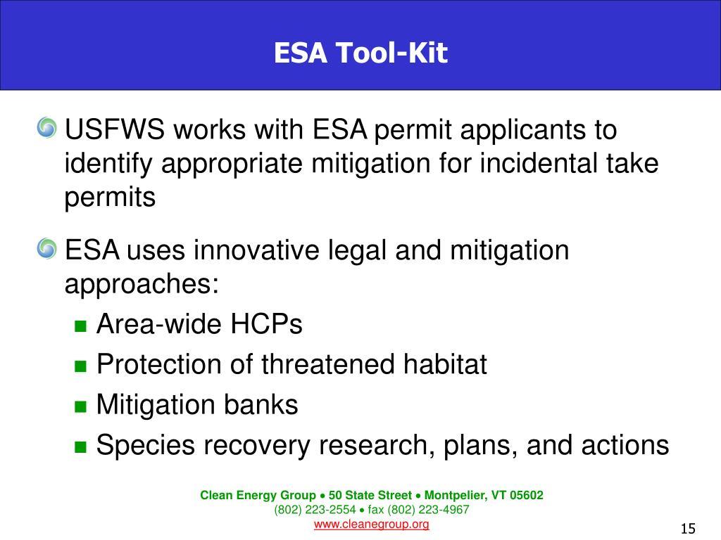 ESA Tool-Kit