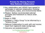 process for moving forward new national collaborative
