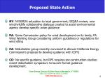 proposed state action