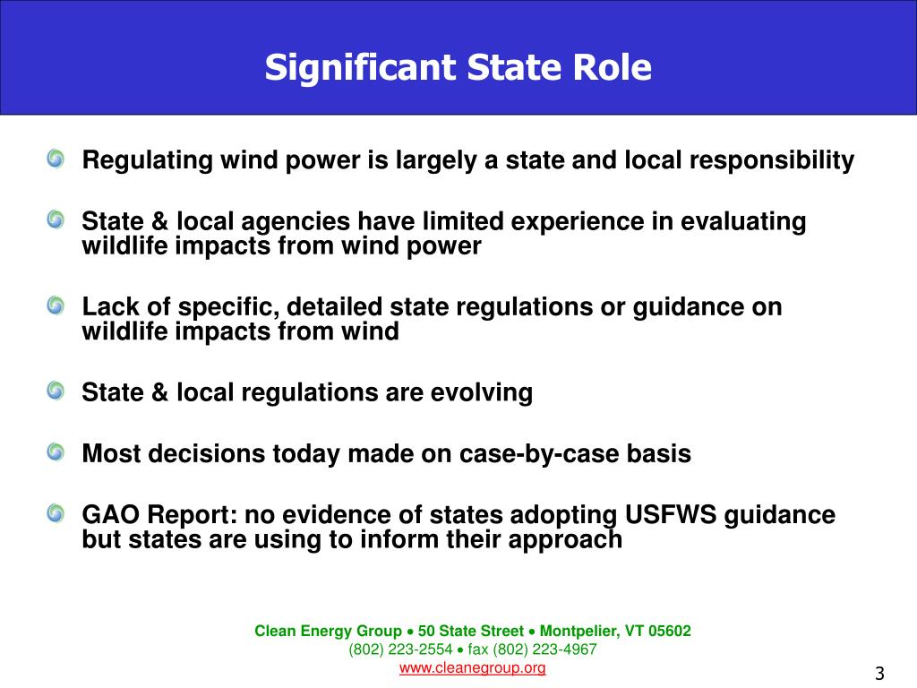 Significant State Role