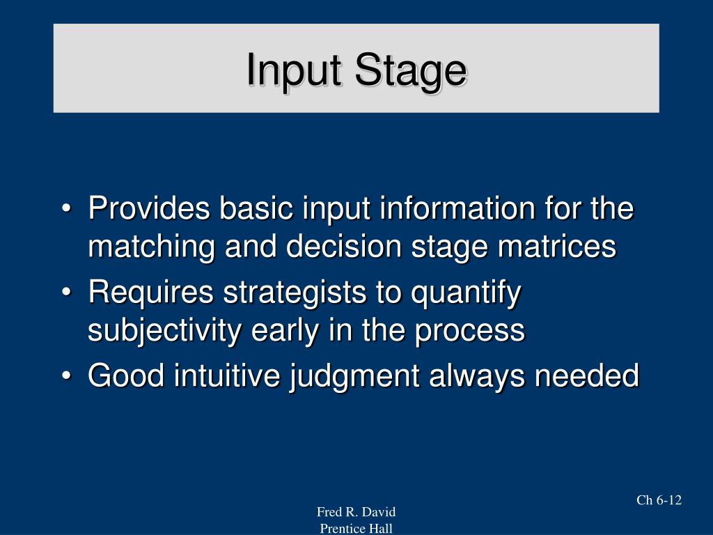 Input Stage