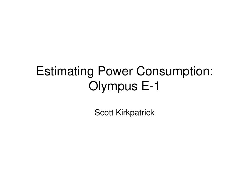 Estimating Power Consumption: