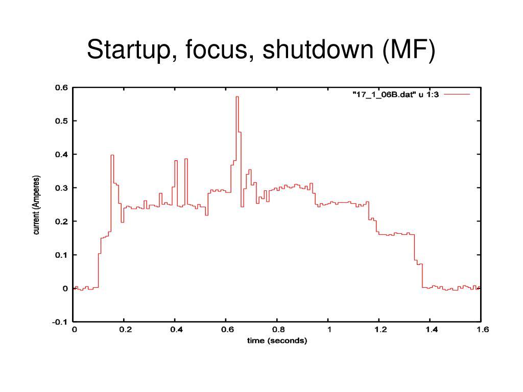 Startup, focus, shutdown (MF)