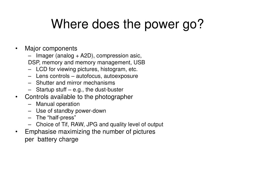 Where does the power go?