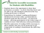 a vision for accessible assessments for students with disabilities