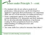 issues under principle 3 cont