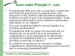 issues under principle 3 cont17