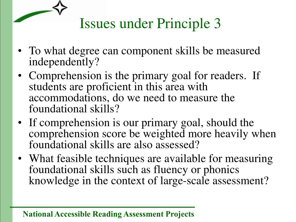To what degree can component skills be measured independently?