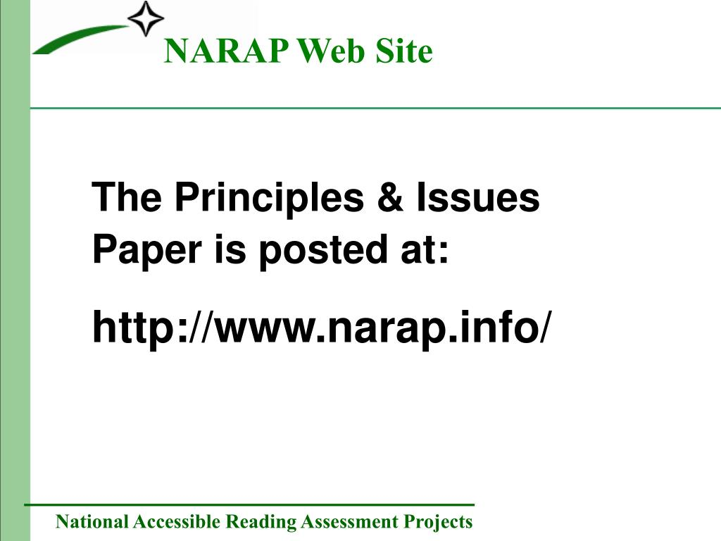 NARAP Web Site