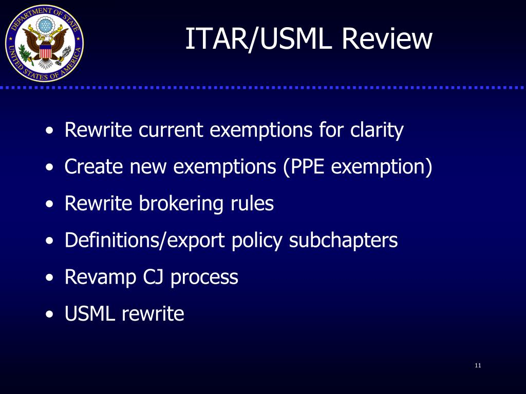 Extraterritoriality & The New Brokering Rule (ITAR Part ...