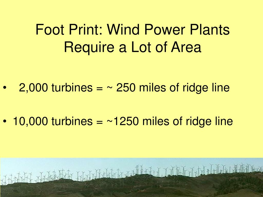 Foot Print: Wind Power Plants