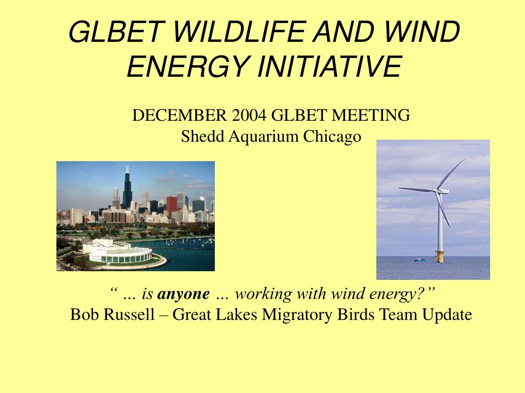 GLBET WILDLIFE AND WIND ENERGY INITIATIVE
