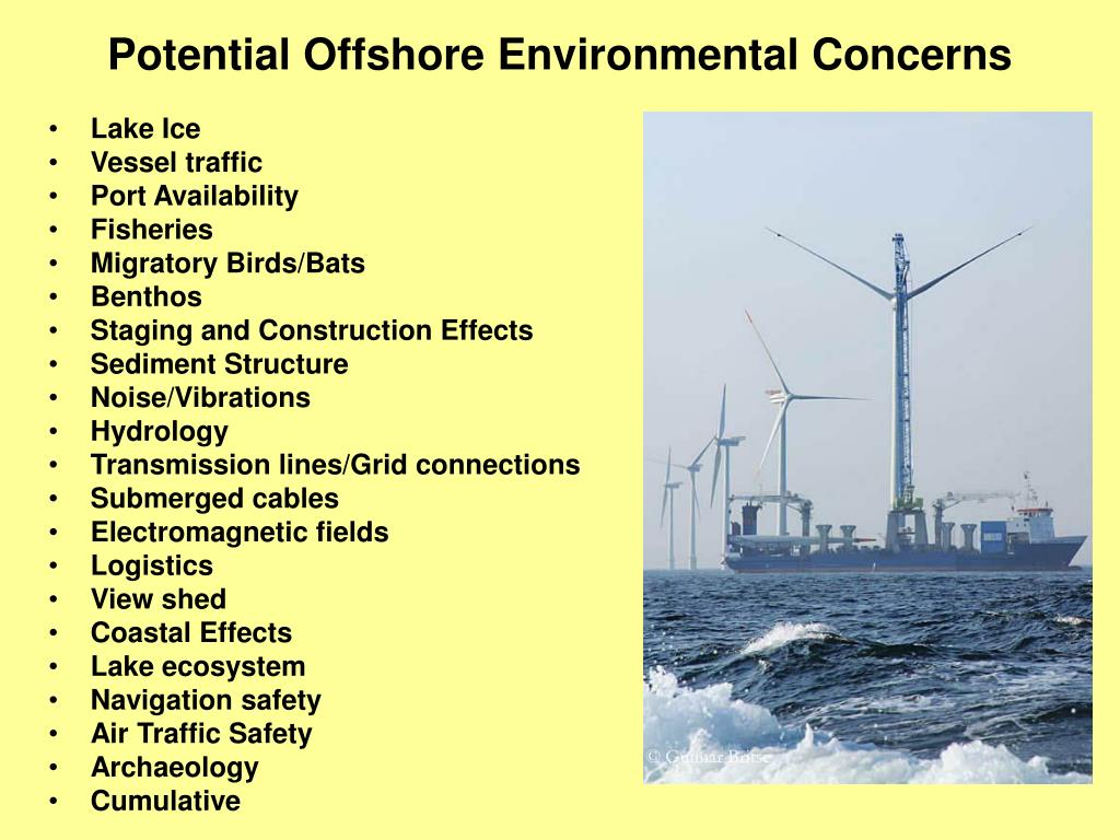 Potential Offshore Environmental Concerns