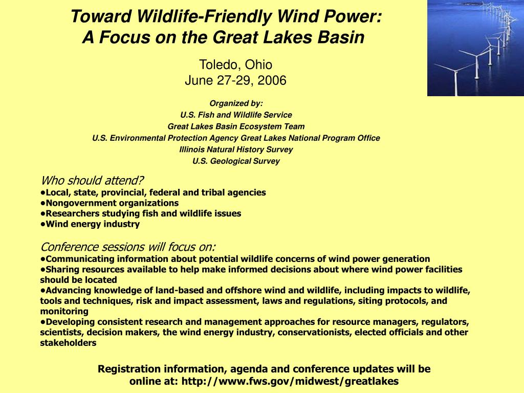 Toward Wildlife-Friendly Wind Power:
