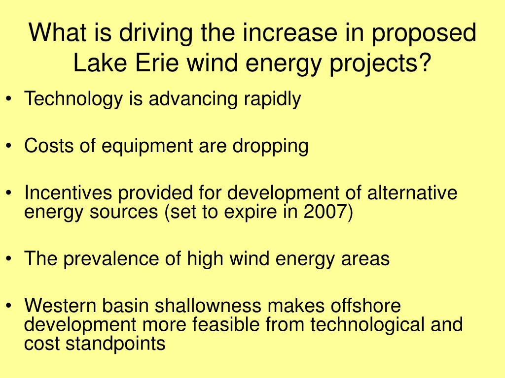 What is driving the increase in proposed Lake Erie wind energy projects?