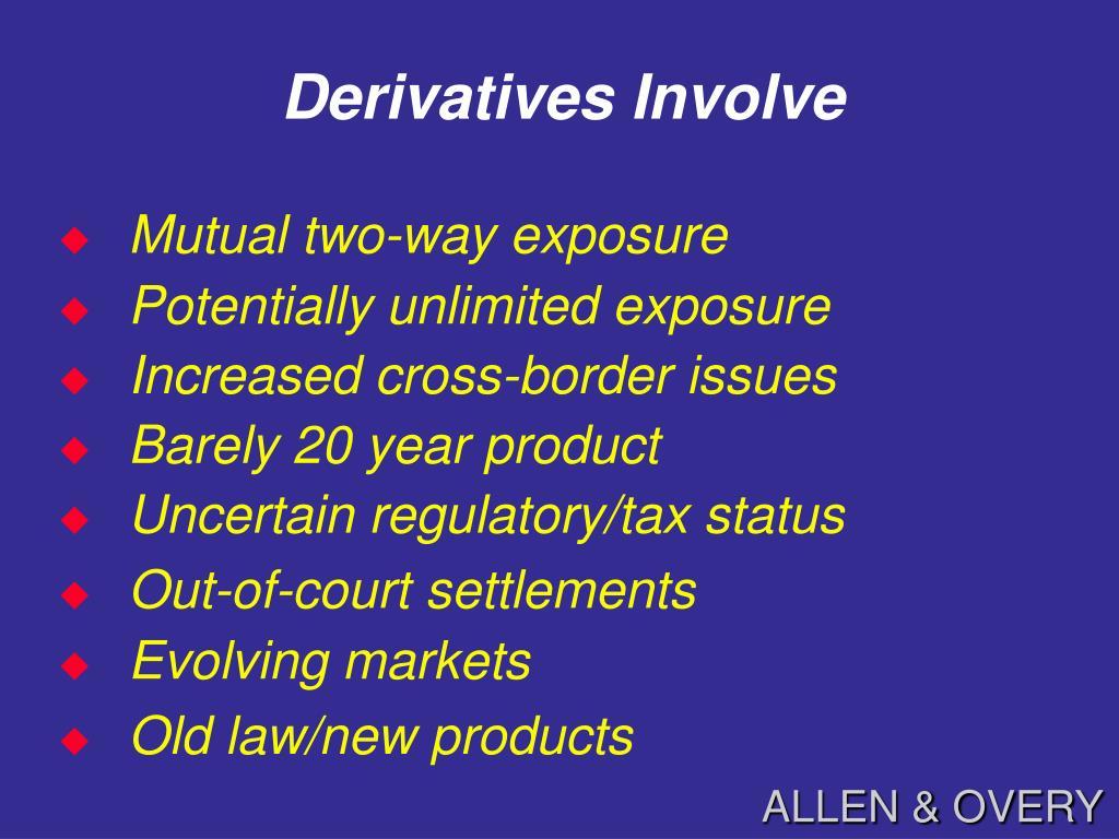 Derivatives Involve