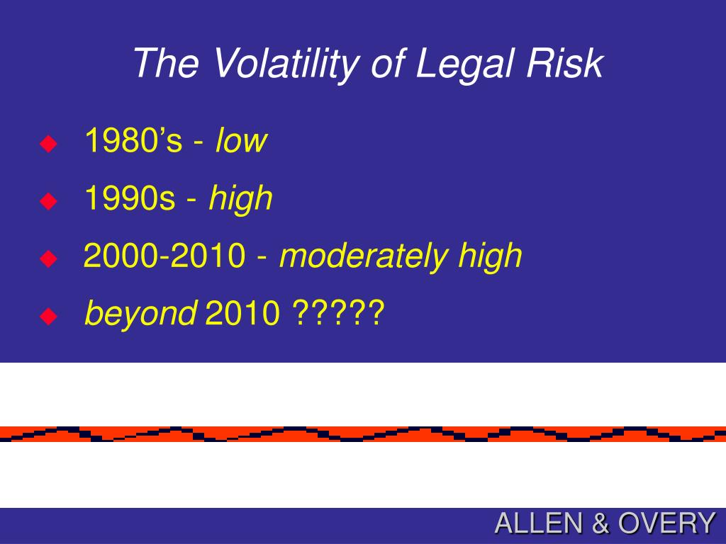 The Volatility of Legal Risk